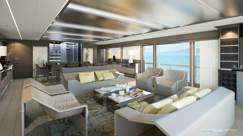 Yachts middle east - WIDER 125 interior