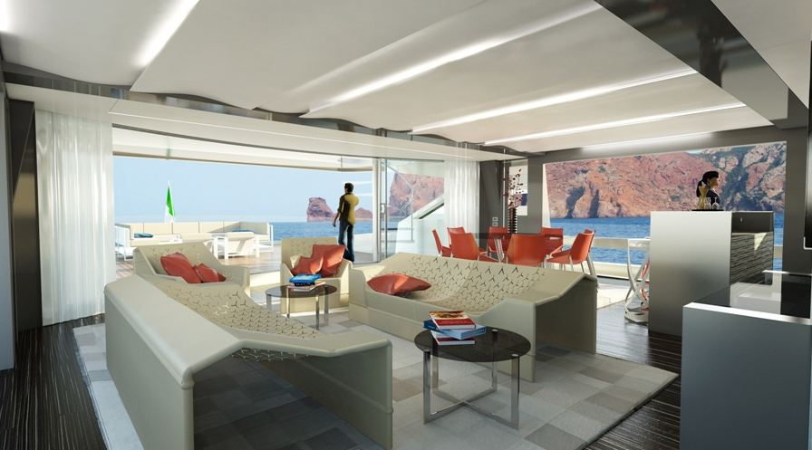 Yachts middle east -WIDER 165 - INERIOR