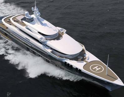 Sunrise 68m project Skyfall yacht