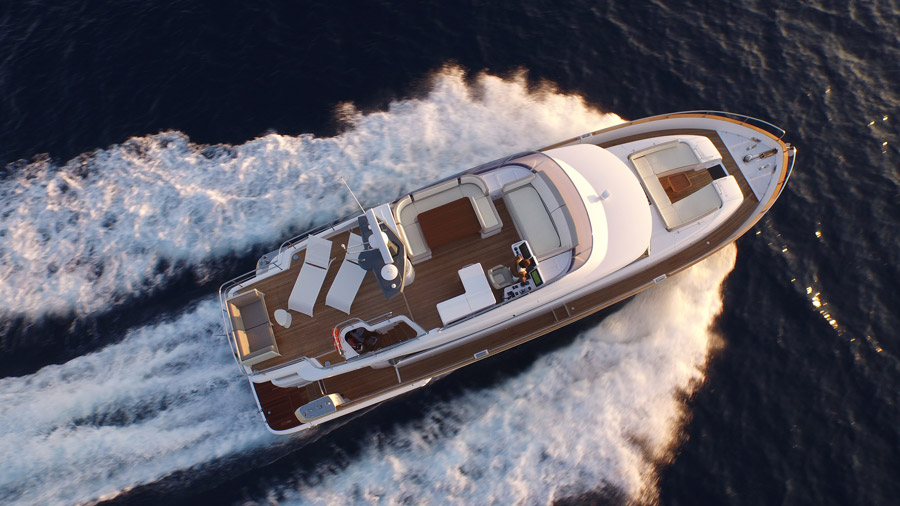 Yachts middle east - Azimut - Magellano 66 - top