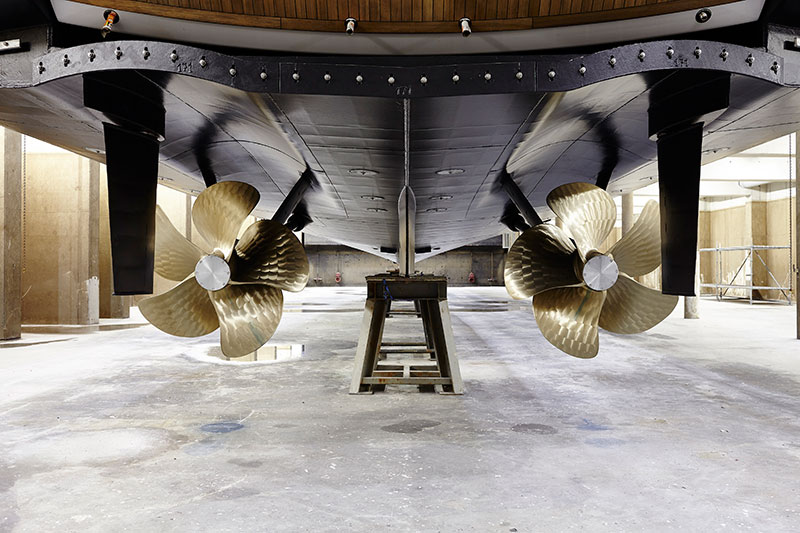 yachts middle east - Heesen Yachts - Amore Mio propellers