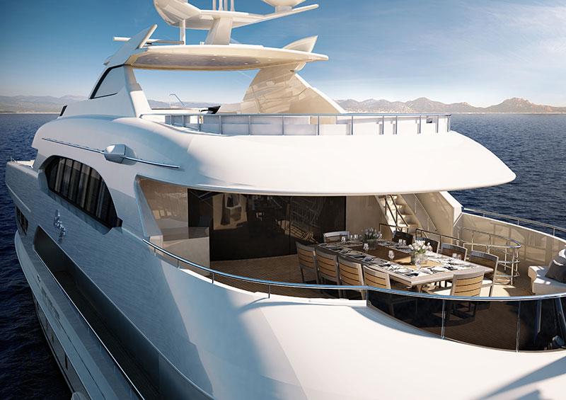 yachts middle east - Heesen Yachts - Ruya stern