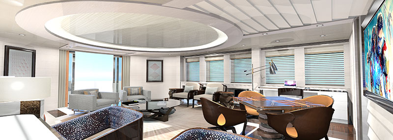 yachts middle east - Heesen Yachts - Ruya - Main salon