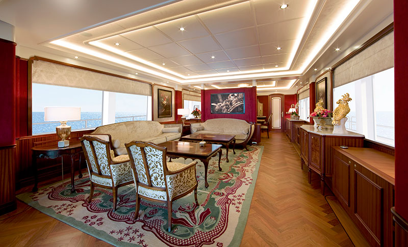 yachts middle east - Santa Maria T - salon