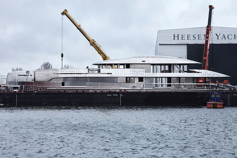 yachts middle east - Heesen yachts - Project Nova 's hull