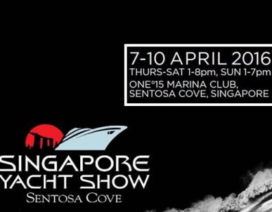 أسبوع واحد فقط من معرض سنغافورة لليخوت لعام 2016!