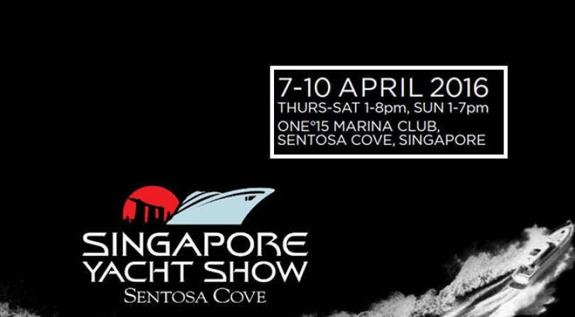 The Singapore Yacht Show 2016 just one week to go!