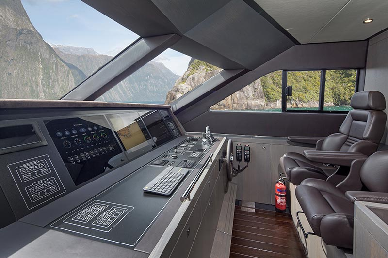 Yachts Middle East - Van der Valk and Guido De Groot - Grey Falcon cockpit