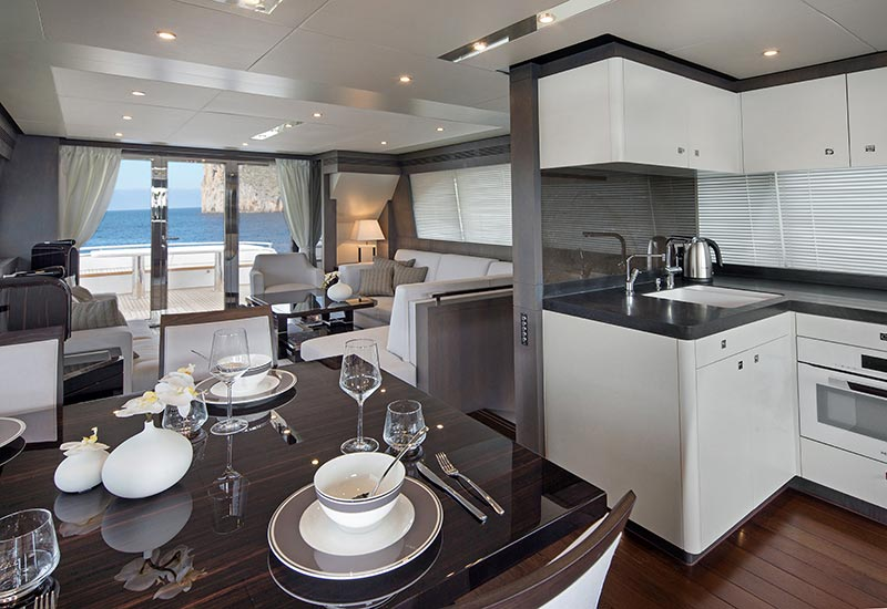 Yachts Middle East - Van der Valk and Guido De Groot - Grey Falcon living room
