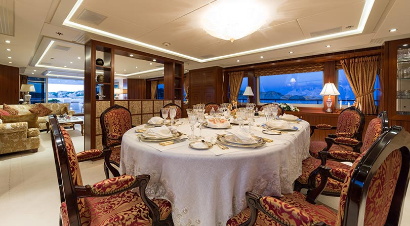 Yachts Middle East - Imperial Yachts - Ariadna main deck dining