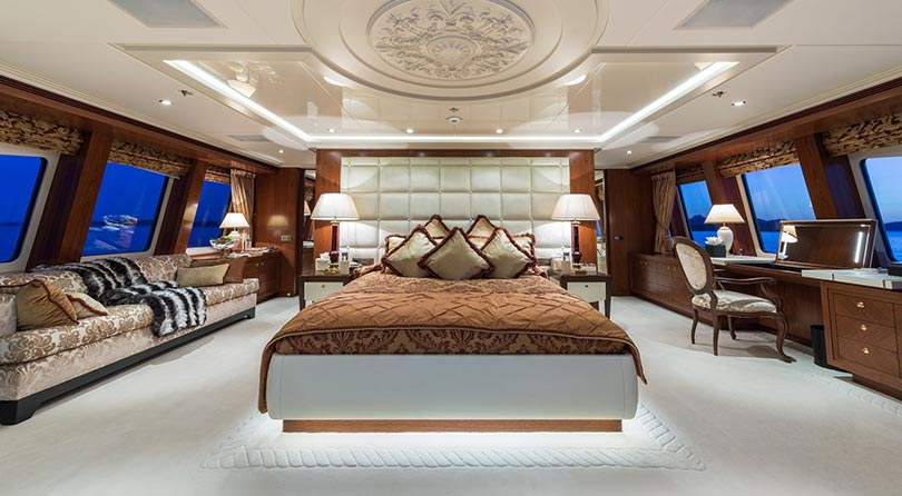 Yachts Middle East - Imperial Yachts - Ariadna Master cabin
