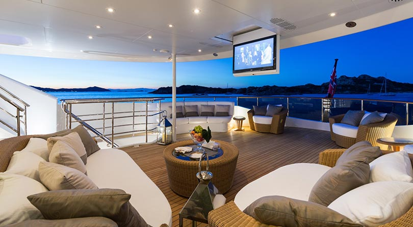 Yachts Middle East - Imperial Yachts - Ariadna cinema at the owner deck