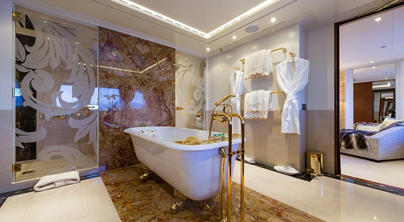 Yachts Middle East - Imperial Yachts - Ariadna VIP bathroom cabin