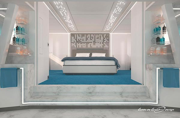 Yachts Middle East - Guido de Groot - Serenitas Master room Design