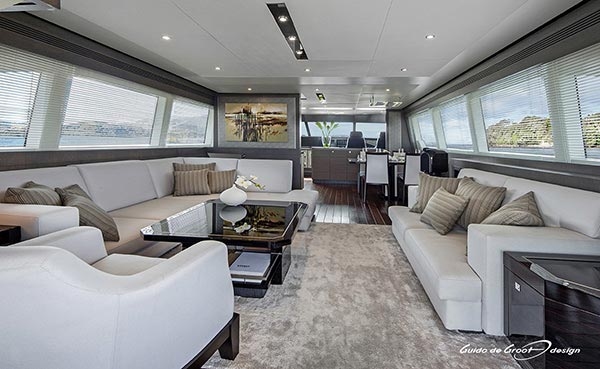 Yachts Middle East - Guido de Groot - Grey Falcon living area
