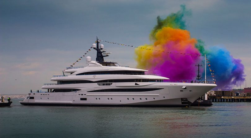 CUSTOM 74 METRE NEW BUILD CRN SUPERYACHT IS LAUNCHED
