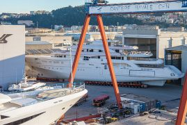 SPECTACULAR MEGAYACHT RELOCATION AT CRN