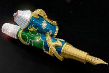 """قلم """"ألتيميت سينتينيال دراغون"""" الفريد من نوعه في معرض الفخامة الدولي في الرياض"""