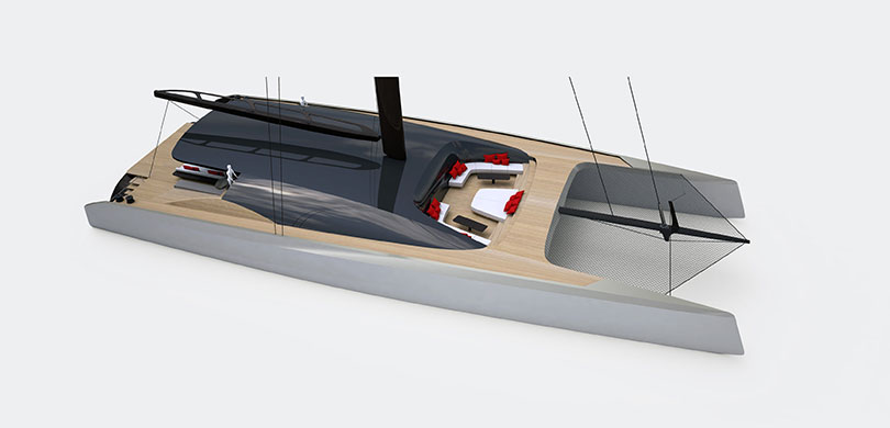 Yachts Middle East - BlackCat 35m design