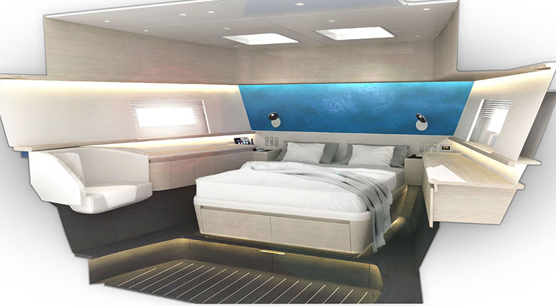 Yachts Middle East - Frers 78ft Motor Yacht - bedroom cabin