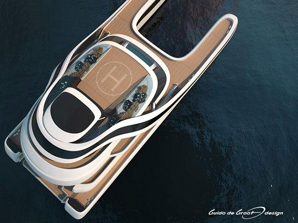 Yachts Middle East - Yacht Rén Heli Pad