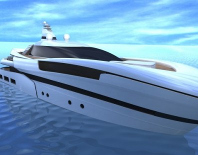 55m luxury motor yacht Project SMEW by Ira Petromanolaki of IP.YD