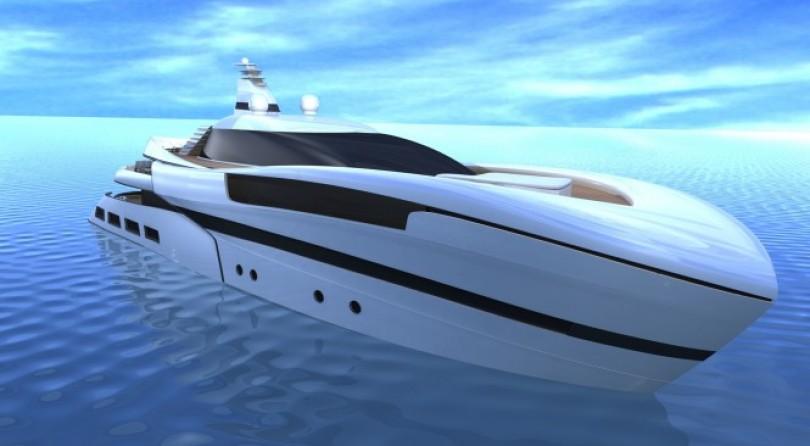 55m luxury motor yacht Project SMEW by Ira Petromanolaki of IP.YD