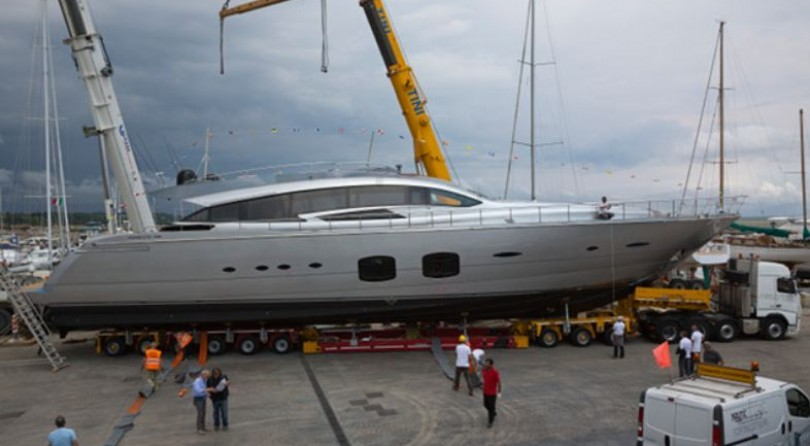 Pershing launched its third pershing 108 foot maxi yacht