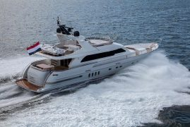 Van der Valk launches Continental Two Grey Falcon 32 knots of power and a Guido de Groot interior