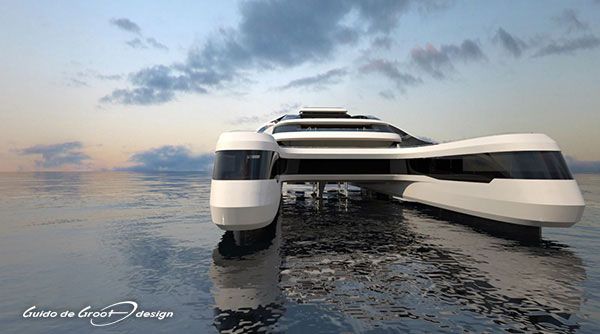 Yachts Middle East - Guido de Groot designs yacht Rén